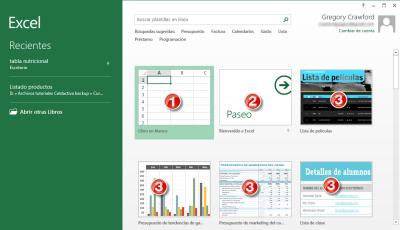Menu Inicio Excel 2013